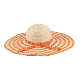 Selma - 20% Nylon 80% Cotton Woven Fabric Extra Large Wide Brim Sun Hat Sun Styles - AH-017-8-OR