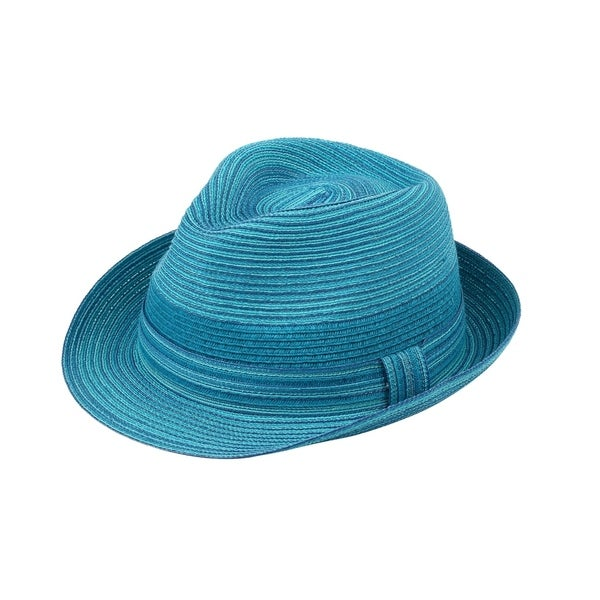 Rosie - 80% Cotton 20% Paper Straw Woven Fabric Trilby Style Sun Hat Sun Styles - AH-006-12-OR
