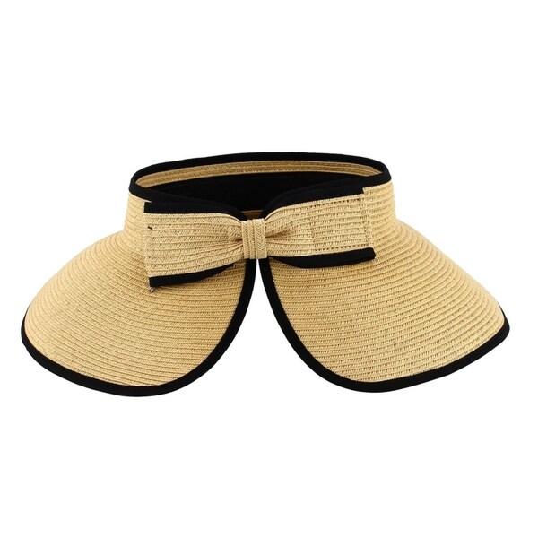 02c51c0695b Shop Joan -100% Paper Straw Sun Visor Style Sun Hat Sun Styles - AH ...