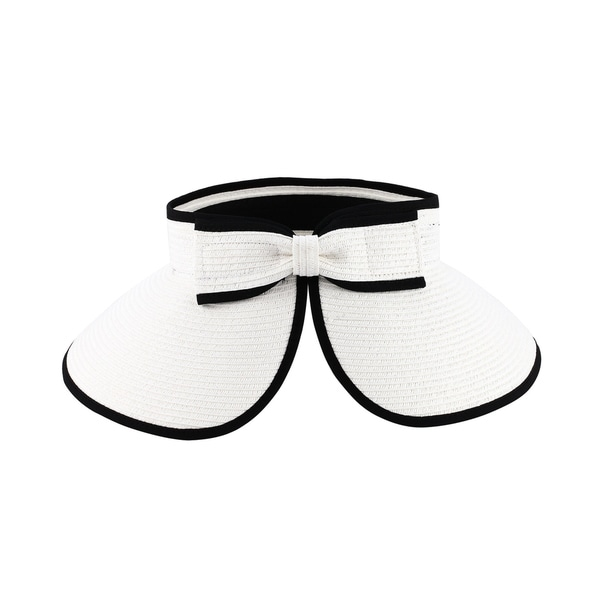 3d6640376b0 Shop Joan -100% Paper Straw Sun Visor Style Sun Hat Sun Styles - AH-065-5-WH  - Free Shipping On Orders Over  45 - Overstock.com - 20743668