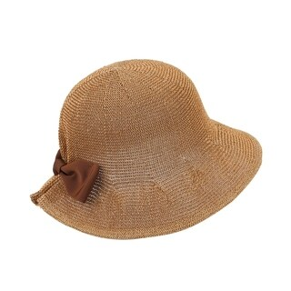 Tanya - 100% Paper Straw Cloche Style Sun Hat Sun Styles - AH-058-4-BR