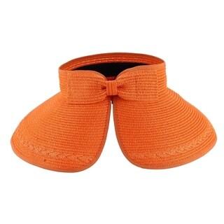 Paulina - 100% Paper Straw Sun Visor Style Sun Hat Sun Styles - AH-064-8-OR