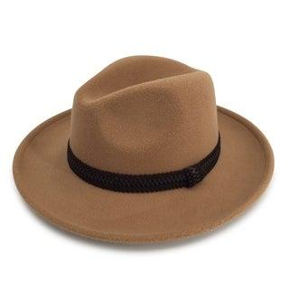Monae - 65% Cotton 35% Polyester Fabric Blend Modern-day Stiff Brim Fedora Style Hat Alpas - FY-014-CML