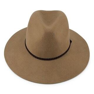Ivy - 100% Wool Felt Modern-day Fedora Style Hat Alpas - MF-016-1-CML