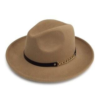Carter - 65% Cotton 35% Polyester Fabric Blend Modern-day Stiff Brim Fedora Style Felt-like Hat Alpas - FY-015-RU