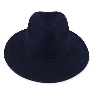 Ivy - 100% Wool Felt Modern-day Fedora Style Hat Alpas - MF-016-2-DE