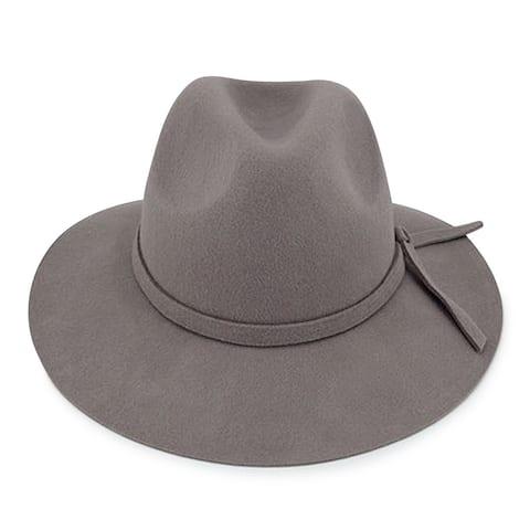 7d2bb395f25bd Adele - 100% Wool Felt Moden-day Soft Brim Fedora Style Felt Hat Alpas