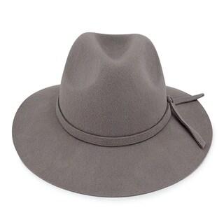 Adele - 100% Wool Felt Moden-day Soft Brim Fedora Style Felt Hat Alpas - YY-021-LGY