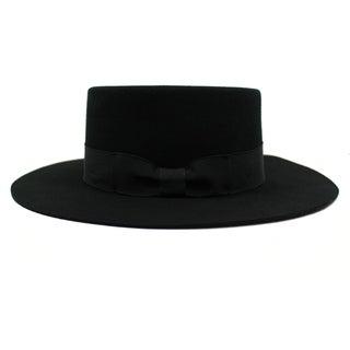 JJ - 100% Wool Felt Boater Style Hat Alpas - YY-044-GR