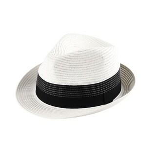 Frankie - 100% Paper Straw Trilby Fedora Style Hat
