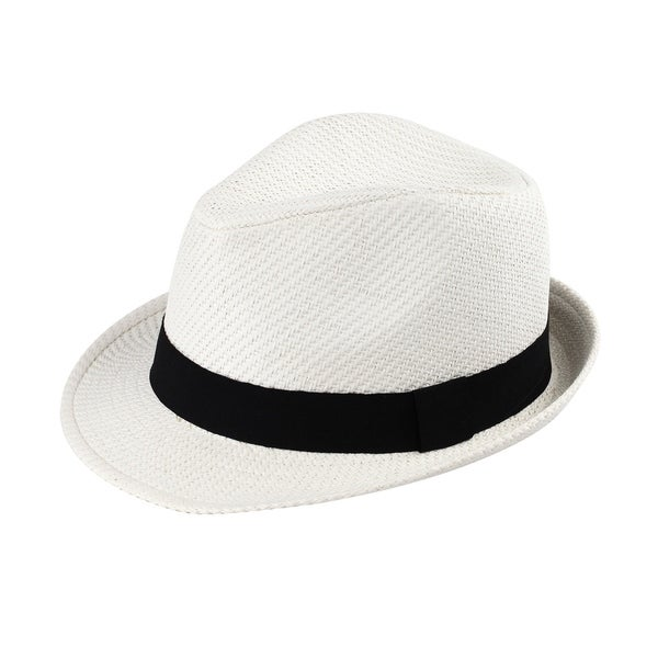 4b43401f0167c Shop Johnny B. - 100% 100% Paper Straw Triby Fedora Style Hat - Free ...