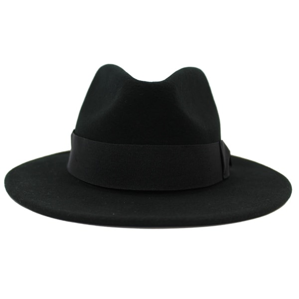 97d89ae361a Shop Stefano - 100% Wool Felt Modern-day Stiff Brim Fedora Style Hat - Free  Shipping On Orders Over $45 - Overstock - 20743825