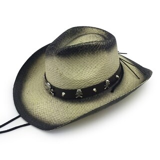 Sully - 100% Paper Straw Cowboy Drifter Style Hat