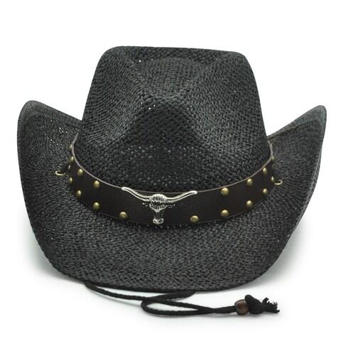 Longhorn - 100% Paper Straw Cowboy Drifter Style Hat