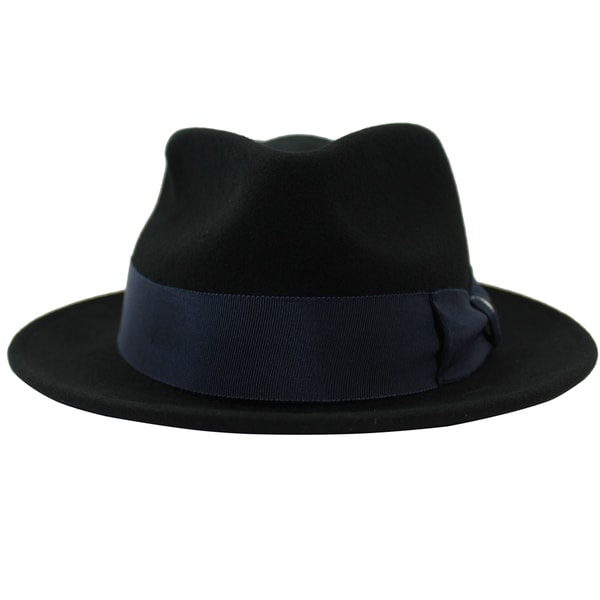 c244b50c424fb Shop Russell - 100% Wool Felt Stingy Brim Trilby Fedora Style Felt Hat -  Free Shipping On Orders Over  45 - Overstock - 20743859