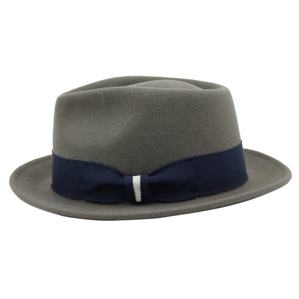 9f89c87b50c1a Shop Russell - 100% Wool Felt Stingy Brim Trilby Fedora Style Felt ...