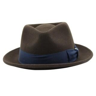 Russell - 100% Wool Felt Stingy Brim Trilby Fedora Style Felt Hat