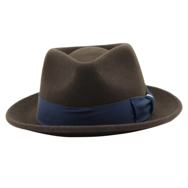 58e61ca361df8 Shop Russell - 100% Wool Felt Stingy Brim Trilby Fedora Style Felt Hat -  Free Shipping On Orders Over  45 - Overstock - 20743873