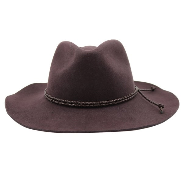 Shop Nelson - 100% Wool Felt Western Influenced Felt Hat - Free Shipping On  Orders Over  45 - Overstock.com - 20743875 b76eada7bc70
