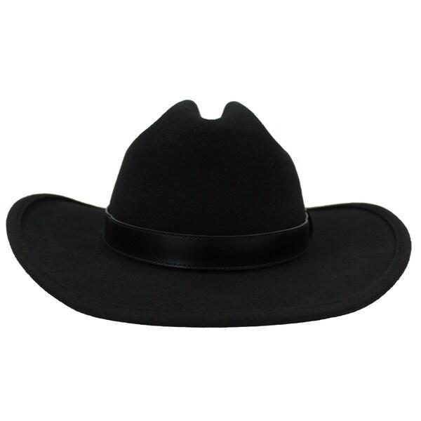 Wilson - 100% Wool Felt Western Influenced Cattleman Crown Style Felt Hat f3cc5af0e7c
