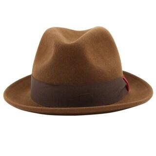 Stokes - 100% Wool Felt Stingy Brim Trilby Fedora Style Felt Hat