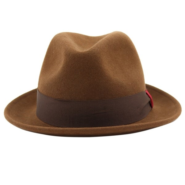 a7c0fabece54d4 Shop Stokes - 100% Wool Felt Stingy Brim Trilby Fedora Style Felt Hat -  Free Shipping On Orders Over $45 - Overstock - 20743891