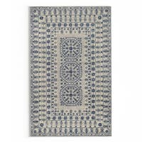 Gracewood Hollow Wright Hand-tufted Ivory Oriental Pattern Wool Area Rug - 5' x 8'