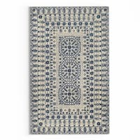 Gracewood Hollow Wright Hand-tufted Ivory Oriental Pattern Wool Area Rug