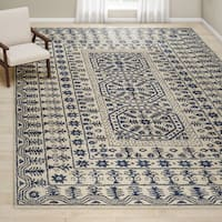 Gracewood Hollow Wright Hand-tufted Oriental Wool Area Rug - 9' x 13'