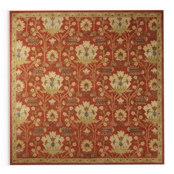 Gracewood Hollow Brooks Hand-tufted Floral Wool Area Rug - 9'9