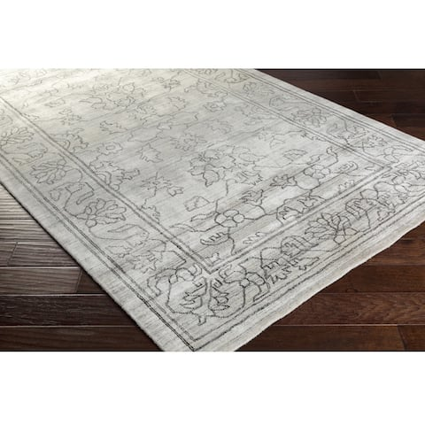 Gracewood Hollow Dove Hand-loomed Viscose/Cotton Area Rug
