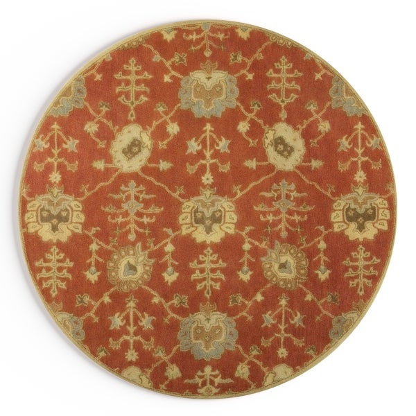 Gracewood Hollow Luther Hand-Tufted Wool Area Rug (8' Round)