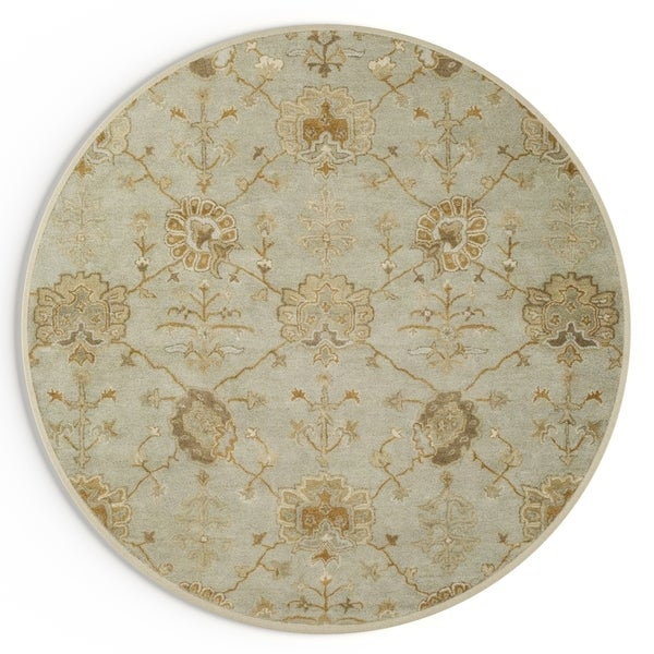 Gracewood Hollow Luther Hand-Tufted Wool Area Rug (6' Round)