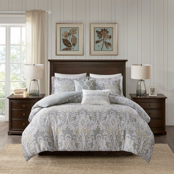 Harbor House Hallie Grey 5 Piece Cotton Duvet Cover Set