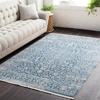 "Gracewood Hollow Daninos Vintage Persian Traditional Blue Area Rug - 7'10"" x 10'3"""