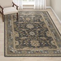 "Gracewood Hollow Paule Blue Traditional Oriental Handmade Area Rug - 7'6"" x 9'6"""