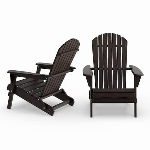 Havenside Home Bergen 2-piece Foldable Adirondack Chair Set