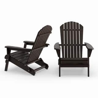 Havenside Home Bergen 2-piece Foldable Adirondack Chair Set