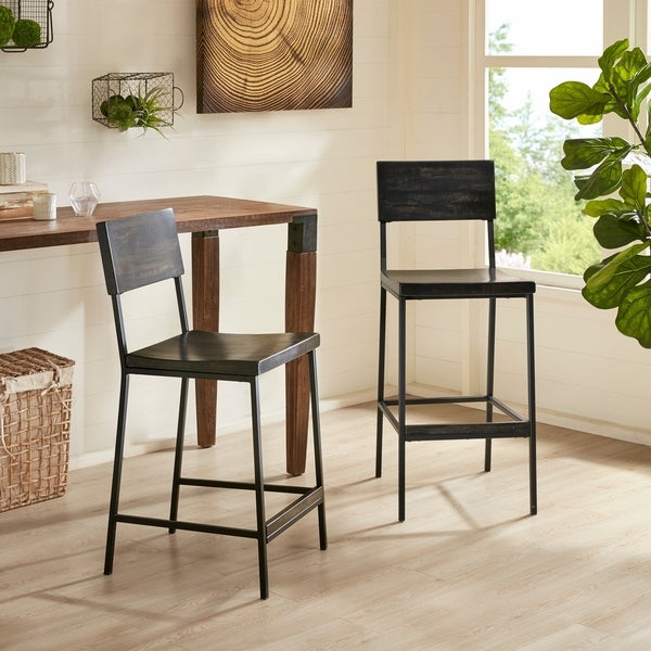 Shop Ink Ivy Tacoma Black 24 Inch Counter Stool Free