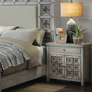 Furniture of America Dily Transitional Grey Wood 1-drawer Nightstand