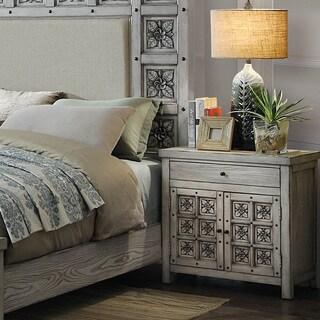 Furniture of America Vandalla Antique Light Grey Nightstand