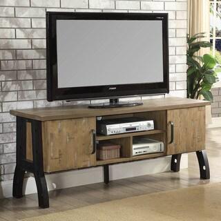 Furniture of America Sorensen Industrial Rustic Oak 2-cabinet TV Stand
