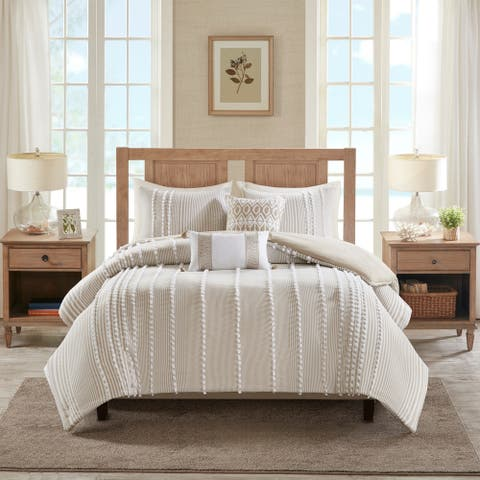 Harbor House Anslee 3 Piece Cotton Yarn Dyed Comforter Set