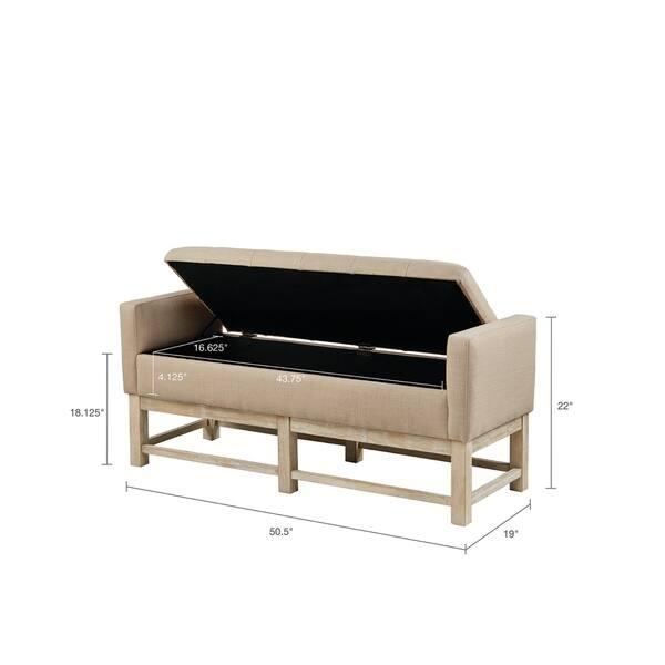 Fantastic Shop Madison Park Foster Cream Storage Bench Free Shipping Uwap Interior Chair Design Uwaporg