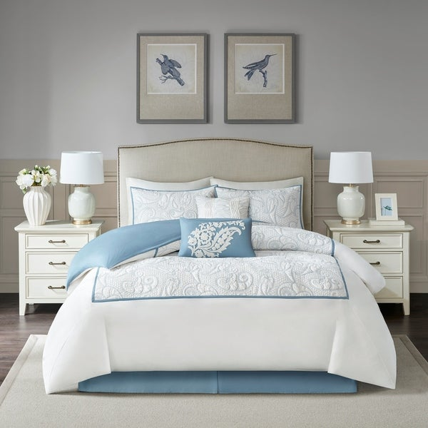 Harbor House Boxton Blue 6 Piece Cotton Comforter Set