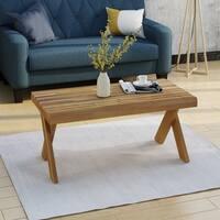 Esmeralda Farmhouse Acacia Wood Coffee Table by Christopher Knight Home