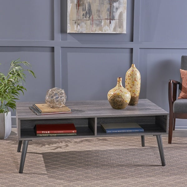 Azzura Mid Century Modern Faux Wood Coffee Table by Christopher Knight Home