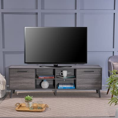 Dontae Mid-Century Modern TV Stand with Tapered Legs by Christopher Knight Home