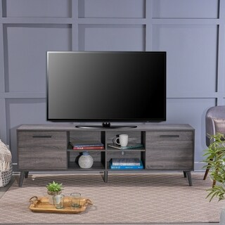 Link to Dontae Mid Century Modern Faux Wood TV Stand by Christopher Knight Home Similar Items in TV Stands & Entertainment Centers