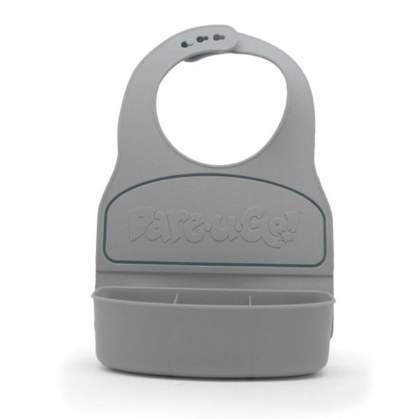 Dare-U-Go Baby Bib and Food Container In One - Grey